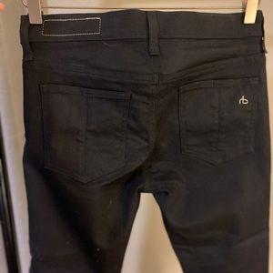 Rag & Bone zipper Capri black denim - size 27